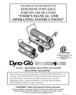 KFA210WH Owners Manual