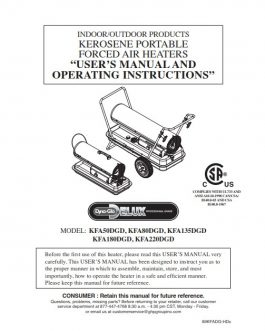 KFA135DGD Owners Manual