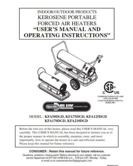 KFA210DGD Owners Manual 2014