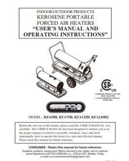 KFA210H2 Owners Manual