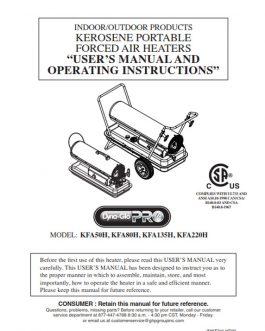 KFA50H Owners Manual (2015)