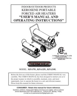 KFA125L Thermoheat Owners Manual