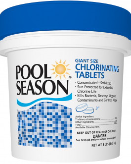 Pool Season 3″ Giant Size Chlorinated Sanitizing Tablets 8# Pail – HGH-50-3508