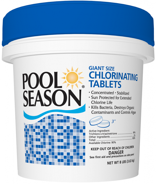 "Pool Season 3"" Chlorinated Tablets"